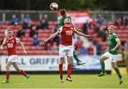 25 May 2018; Colm Horgan of Cork City in action against James Doona of St Patrick's Athletic during the SSE Airtricity League Premier Division match between St Patrick's Athletic and Cork City at Richmond Park in Dublin. Photo by David Fitzgerald/Sportsfile