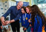 26 May 2018; Aldi Ambassador Paul O'Connell takes a selfie with a group of swimmers from Tipperary during the Aldi Community Games May Festival, which saw over 3,500 children take part in a fun-filled weekend at University of Limerick from 26th to 27th May. Photo by Sam Barnes/Sportsfile