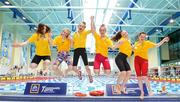 26 May 2018; Girls 13-16 200m Medley Relay gold medallists, from left, Nimah Hughes, Katie McMullin, Caoimhe McCauley, Cora Rooney, Anna McCaffrey and Clodagh O'Connor, from Ballyshannon, Co. Donegal during the Aldi Community Games May Festival, which saw over 3,500 children take part in a fun-filled weekend at University of Limerick from 26th to 27th May. Photo by Sam Barnes/Sportsfile
