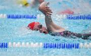26 May 2018; Kate Delaney, from Blackrock - Haggardstown, Co. Louth, competing in the Girls 10-13 100m Freestyle Relay event during the Aldi Community Games May Festival, which saw over 3,500 children take part in a fun-filled weekend at University of Limerick from 26th to 27th May. Photo by Sam Barnes/Sportsfile