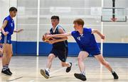 26 May 2018; Evan O'Rourke from Oranmore, Co. Galway, left, and Kilian Mccabe, from Cuchulainns, Co. Cavan, competing in the Basketball U16 & O13 Boys event during the Aldi Community Games May Festival, which saw over 3,500 children take part in a fun-filled weekend at University of Limerick from 26th to 27th May. Photo by Sam Barnes/Sportsfile