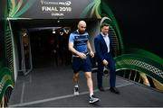 26 May 2018; Scott Fardy, left, and Josh van der Flier of Leinster arrives ahead of the Guinness PRO14 Final between Leinster and Scarlets at the Aviva Stadium in Dublin. Photo by Ramsey Cardy/Sportsfile