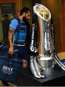 26 May 2018; Isa Nacewa of Leinster arrives ahead of the Guinness PRO14 Final between Leinster and Scarlets at the Aviva Stadium in Dublin. Photo by Ramsey Cardy/Sportsfile