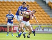 26 May 2018; Ger Egan of Westmeath in action against Kieran Lillis of Laois during the Leinster GAA Football Senior Championship Quarter-Final match between Laois and Westmeath at Bord na Mona O'Connor Park in Tullamore, Offaly. Photo by Matt Browne/Sportsfile