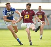 26 May 2018; John Connellan of Westmeath in action against Colm Begley of Laois during the Leinster GAA Football Senior Championship Quarter-Final match between Laois and Westmeath at Bord na Mona O'Connor Park in Tullamore, Offaly. Photo by Matt Browne/Sportsfile
