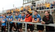 26 May 2018; Down and Antrim players watching the Minor game from the terraces before the Ulster GAA Football Senior Championship Quarter-Final match between Down and Antrim at Pairc Esler in Newry, Down. Photo by Oliver McVeigh/Sportsfile