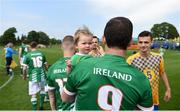 26 May 2018; Joseph Watson of Ireland and daughter Amber prior to the European Deaf Sport Organization European Championships third qualifying round match between Ireland and Sweden at the FAI National Training Centre in Abbotstown, Dublin. Photo by Stephen McCarthy/Sportsfile