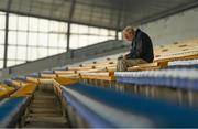 26 May 2018; Denis Hurley from Sarsfields, Cork, studies the programme prior to the Munster GAA Football Senior Championship semi-final match between Tipperary and Cork at Semple Stadium in Thurles, County Tipperary. Photo by Eóin Noonan/Sportsfile