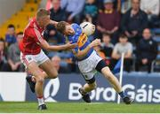 26 May 2018; Brian Fox of Tipperary is tackled by Sean White of Cork during the Munster GAA Football Senior Championship semi-final match between Tipperary and Cork at Semple Stadium in Thurles, County Tipperary. Photo by Eóin Noonan/Sportsfile
