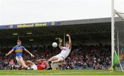 26 May 2018; Mark White of Cork makes a save from Liam Casey of Tipperary during the Munster GAA Football Senior Championship semi-final match between Tipperary and Cork at Semple Stadium in Thurles, County Tipperary. Photo by Eóin Noonan/Sportsfile