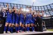 26 May 2018; Isa Nacewa lifts the trophy for Leinster after the Guinness PRO14 Final match between Leinster and Scarlets at the Aviva Stadium in Dublin. Photo by Ramsey Cardy/Sportsfile