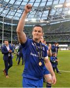 26 May 2018; Jonathan Sexton of Leinster celebrates following the Guinness PRO14 Final between Leinster and Scarlets at the Aviva Stadium in Dublin. Photo by David Fitzgerald/Sportsfile