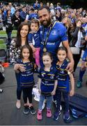 26 May 2018; Isa Nacewa of Leinster celebrates with his family following the Guinness PRO14 Final between Leinster and Scarlets at the Aviva Stadium in Dublin. Photo by David Fitzgerald/Sportsfile
