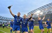 26 May 2018; Jack Conan, left, and James Tracy of Leinster celebrate following the Guinness PRO14 Final between Leinster and Scarlets at the Aviva Stadium in Dublin. Photo by David Fitzgerald/Sportsfile