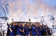 26 May 2018; Leinster captain Isa Nacewa lifts the trophy following their victory in the Guinness PRO14 Final between Leinster and Scarlets at the Aviva Stadium in Dublin. Photo by Ramsey Cardy/Sportsfile