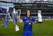 26 May 2018; James Lowe of Leinster following their victory in the Guinness PRO14 Final between Leinster and Scarlets at the Aviva Stadium in Dublin. Photo by Ramsey Cardy/Sportsfile
