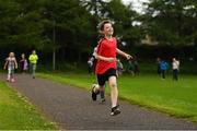 27 May 2018; Parkrun Ireland in partnership with Vhi, expanded their range of junior events to thirteen with the introduction of the Cobh junior parkrun on Sunday morning. Junior parkruns are 2km long and cater for 4 to 14 year olds, free of charge providing a fun and safe environment for children to enjoy exercise. Pictured is Oscar Fallon, age 12, from Cobh, Cork. Photo by Eóin Noonan/Sportsfile