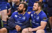26 May 2018; Isa Nacewa, left, and Cian Healy of Leinster watch the final moments of the Guinness PRO14 Final between Leinster and Scarlets at the Aviva Stadium in Dublin. Photo by Ramsey Cardy/Sportsfile