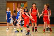 27 May 2018; Kyle Buckley, from Castleisland, Co. Kerry, celebrates after winning a game during Basketball U11 & O9 Mixed event during Day 2 of the Aldi Community Games May Festival, which saw over 3,500 children take part in a fun-filled weekend at University of Limerick from 26th to 27th May.  Photo by Sam Barnes/Sportsfile