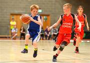 27 May 2018; Ryan Holland from Oranmore, Co.Galway, left and Kyle Buckley, from Castleisland, Co. Kerry, competing in the Basketball U11 & O9 Mixed event during Day 2 of the Aldi Community Games May Festival, which saw over 3,500 children take part in a fun-filled weekend at University of Limerick from 26th to 27th May.  Photo by Sam Barnes/Sportsfile
