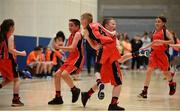 27 May 2018; Castleisland, Co. Kerry, players  including Kyle Buckley and Mark Curtin, centre, celebrate after winning a game during Basketball U11 & O9 Mixed event during Day 2 of the Aldi Community Games May Festival, which saw over 3,500 children take part in a fun-filled weekend at University of Limerick from 26th to 27th May.  Photo by Sam Barnes/Sportsfile