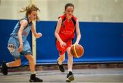 27 May 2018; Rebecca Reidy from Castleisland, Co. Kerry, right, and Aishling Jordan from Oranmore, Co. Galway, competing in the Basketball U13 & O10 Girls during Day 2 of the Aldi Community Games May Festival, which saw over 3,500 children take part in a fun-filled weekend at University of Limerick from 26th to 27th May.  Photo by Sam Barnes/Sportsfile