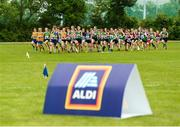 27 May 2018; A general view of the 1200m Cross Country Mixed Final during Day 2 of the Aldi Community Games May Festival, which saw over 3,500 children take part in a fun-filled weekend at University of Limerick from 26th to 27th May. Photo by Diarmuid Greene/Sportsfile