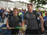 27 May 2018; Noel McGrath, left, and Séamus Callanan of Tipperary arrive prior to the Munster GAA Hurling Senior Championship Round 2 match between Tipperary and Cork at Semple Stadium in Thurles, Tipperary. Photo by Daire Brennan/Sportsfile