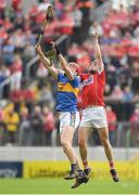 27 May 2018; Darragh Fitzgibbon of Cork in action against Billy McCarthy of Tipperary during the Munster GAA Hurling Senior Championship Round 2 match between Tipperary and Cork at Semple Stadium in Thurles, Tipperary. Photo by Eóin Noonan/Sportsfile