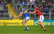 27 May 2018; Noel McGrath of Tipperary in action against Olan Broderick of Cork during the Munster GAA Hurling Senior Championship Round 2 match between Tipperary and Cork at Semple Stadium in Thurles, Tipperary. Photo by Daire Brennan/Sportsfile