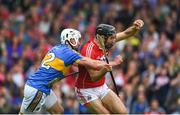 27 May 2018; Christopher Joyce of Cork in action against Patrick Maher of Tipperary during the Munster GAA Hurling Senior Championship Round 2 match between Tipperary and Cork at Semple Stadium in Thurles, Tipperary. Photo by Daire Brennan/Sportsfile