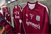 27 May 2018; The jersey of Galway hurler Aidan Harte in the dressing room before the Leinster GAA Hurling Senior Championship Round 3 match between Galway and Kilkenny at Pearse Stadium in Galway. Photo by Piaras Ó Mídheach/Sportsfile
