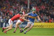 27 May 2018; John O'Dwyer of Tipperary in action against Mark Coleman of Cork during the Munster GAA Hurling Senior Championship Round 2 match between Tipperary and Cork at Semple Stadium in Thurles, Tipperary. Photo by Eóin Noonan/Sportsfile