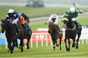 27 May 2018; Platinum Warrior, right, with Shane Foley up, races ahead of Sizzling, left, with Seamie Heffernan up, on their way to winning the Airlie Stud Gallinule Stakes during the Curragh Races Irish 1000 Guineas Day at the Curragh in Kildare. Photo by Barry Cregg/Sportsfile