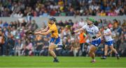 27 May 2018; David McInerney of Clare in action against Tom Devine of Waterford during the Munster GAA Hurling Senior Championship Round 2 match between Clare and Waterford at Cusack Park in Ennis, Co Clare. Photo by Ray McManus/Sportsfile