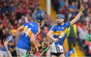 27 May 2018; Patrick Maher of Tipperary celebrates after his team mate Jake Morris scored a late point to draw the game during the Munster GAA Hurling Senior Championship Round 2 match between Tipperary and Cork at Semple Stadium in Thurles, Tipperary. Photo by Eóin Noonan/Sportsfile