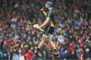 27 May 2018; Tipperary goalkeeper Brian Hogan celebrates a late score near the end of the Munster GAA Hurling Senior Championship Round 2 match between Tipperary and Cork at Semple Stadium in Thurles, Tipperary. Photo by Daire Brennan/Sportsfile