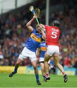 27 May 2018; Patrick Maher of Tipperary in action against Christopher Joyce of Cork during the Munster GAA Hurling Senior Championship Round 2 match between Tipperary and Cork at Semple Stadium in Thurles, Tipperary. Photo by Daire Brennan/Sportsfile