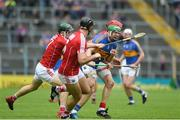 27 May 2018; Noel McGrath of Tipperary in action against Cork players, from left, Mark Coleman, Christopher Joyce, and Bill Cooper during the Munster GAA Hurling Senior Championship Round 2 match between Tipperary and Cork at Semple Stadium in Thurles, Tipperary. Photo by Daire Brennan/Sportsfile