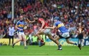 27 May 2018; Mark Ellis of Cork in action against John McGrath of Tipperary during the Munster GAA Hurling Senior Championship Round 2 match between Tipperary and Cork at Semple Stadium in Thurles, Tipperary. Photo by Daire Brennan/Sportsfile