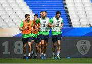 27 May 2018; Republic of Ireland players, from left, Seamus Coleman, Declan Rice, Shane Duffy, David Meyler and Greg Cunningham during Republic of Ireland training at Stade de France in Paris, France. Photo by Stephen McCarthy/Sportsfile