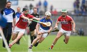 27 May 2018; Seán O'Brien of Tipperary in action against Darragh Fitzgibbon, left, and Shane Kingston of Cork during the Munster GAA Hurling Senior Championship Round 2 match between Tipperary and Cork at Semple Stadium in Thurles, Tipperary. Photo by Daire Brennan/Sportsfile