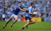 27 May 2018; James McCarthy of Dublin is tackled by John McGrath of Wicklow during the Leinster GAA Football Senior Championship Quarter-Final match between Wicklow and Dublin at O'Moore Park in Portlaoise, Co Laois. Photo by Ramsey Cardy/Sportsfile