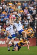 27 May 2018; Shane McNulty, left, and Jamie Barron of Waterford in action against David Reidy of Clare during the Munster GAA Hurling Senior Championship Round 2 match between Clare and Waterford at Cusack Park in Ennis, Co Clare. Photo by Ray McManus/Sportsfile