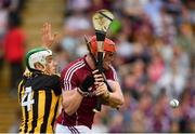 27 May 2018; Conor Whelan of Galway in action against Paddy Deegan of Kilkenny during the Leinster GAA Hurling Senior Championship Round 3 match between Galway and Kilkenny at Pearse Stadium in Galway. Photo by Piaras Ó Mídheach/Sportsfile