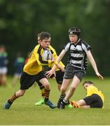 26 May 2018; John Paul Flanagan of Rosses Point, Co. Sligo, in action against Turlough Donnelly of Kilcullen, Co. Kildare, during the Mini Rugby event. Over 3,500 children took part in Aldi Community Games May Festival on a sun-drenched, fun-filled weekend in University of Limerick from 26th to 27th May. Photo by Diarmuid Greene/Sportsfile