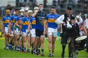 27 May 2018; Tipperary captain Pádraic Maher leads his side during the pre-match parade ahead of the Munster GAA Hurling Senior Championship Round 2 match between Tipperary and Cork at Semple Stadium in Thurles, Tipperary. Photo by Daire Brennan/Sportsfile