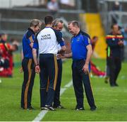 27 May 2018; The Tipperary management team, left to right, Conor Stakelum, Declan Fanning, Michael Ryan, and John Madden ahead of the Munster GAA Hurling Senior Championship Round 2 match between Tipperary and Cork at Semple Stadium in Thurles, Tipperary. Photo by Daire Brennan/Sportsfile