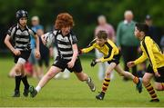 26 May 2018; Myles McNamara of Kilcullen, Co. Kildare, in action against Finn Cunningham and Andrew Ryan of Rosses Point, Co. Sligo, during the Mini Rugby event. Over 3,500 children took part in Aldi Community Games May Festival on a sun-drenched, fun-filled weekend in University of Limerick from 26th to 27th May. Photo by Diarmuid Greene/Sportsfile