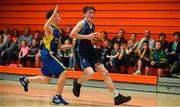27 May 2018; Oisin Holland from Oranmore, Co. Galway, right, and Darragh Sweeney from Ballymacelligott, Co. Kerry, competing in the Basketball U16 & O13 Boys event during Day 2 of the Aldi Community Games May Festival, which saw over 3,500 children take part in a fun-filled weekend at University of Limerick from 26th to 27th May. Photo by Sam Barnes/Sportsfile